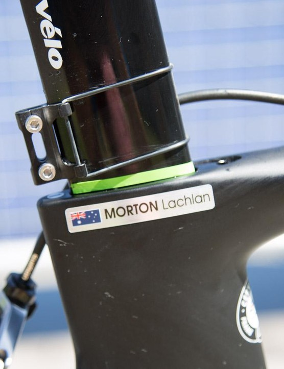 The seat post is marked for a quick set up