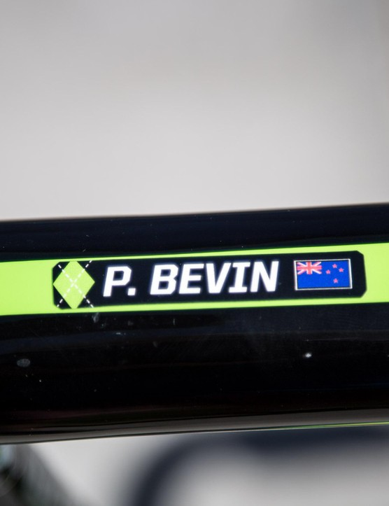 Bevin is one of seven Kiwi riders on the World Tour