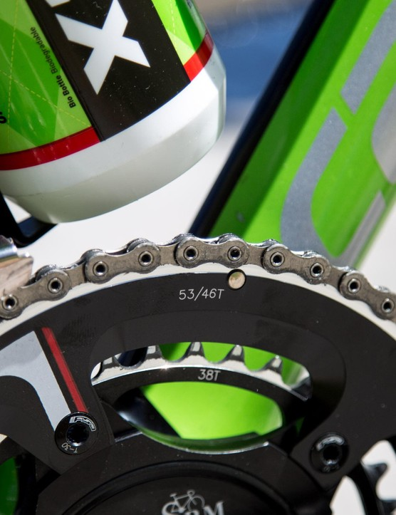 53-38t chainrings for the Kiwi