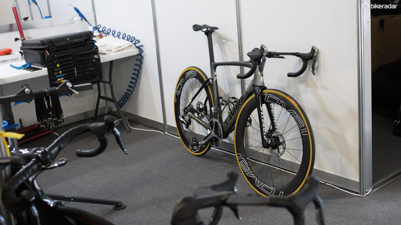 The disc brake Specialized Peter Sagan has been testing in Australia