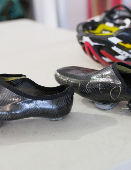 The bare carbon is pretty tame when you look at how Hansen has painted up some of his shoes in the past