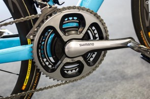 The bike is equipped with a SRM power meter