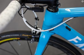 There is certainly tidier cable finishing on show in the WorldTour peloton