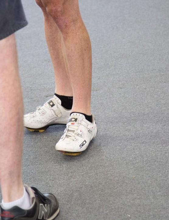 It seems Tyler Farrah forgot his socks