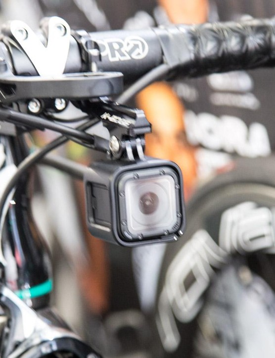 Only the Bora-Hansgrohe bikes appeared to be set up with GoPro Session cameras