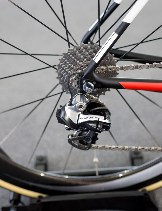 Like the majority of the teams at the Tour Down Under, Team Sunweb had not received the new Dura-Ace 9170 Di2