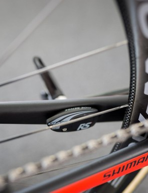 Like Trek's DuoTrap sensors, Giant's Ride Sense ANT+ sensor can be mounted inside the chainstay