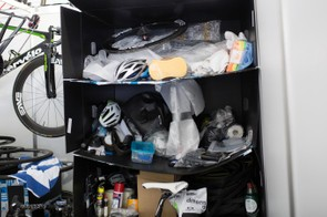 Dimension Data uses its bike boxes for shelving
