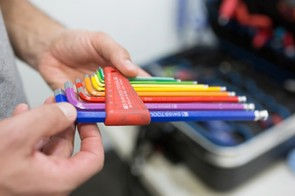 Henk van Lijsdonk, a mechanic at Dimension Data, showed us some of his favorite tools in his travel tool box