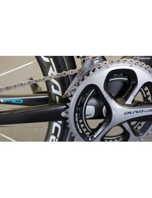The bike features a 9000 series Dura-Ace crankset