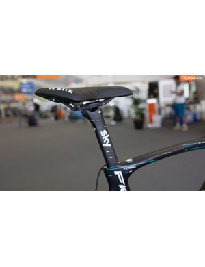 The seat post features the same design as the frame and Team Sky's 2017 jersey