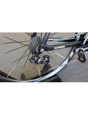 The bike is one of only a few that features Dura-Ace 9150 shifting