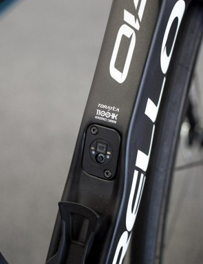 Pinarello's E-Link system can be used to charge and update the Di2 system