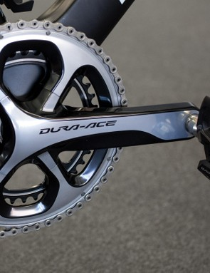 Stannard was running the older DA 9000 crankset