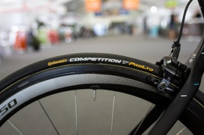 As with the majority of the peloton, Stannard was rolling on Conti Competition 25c tubulars…