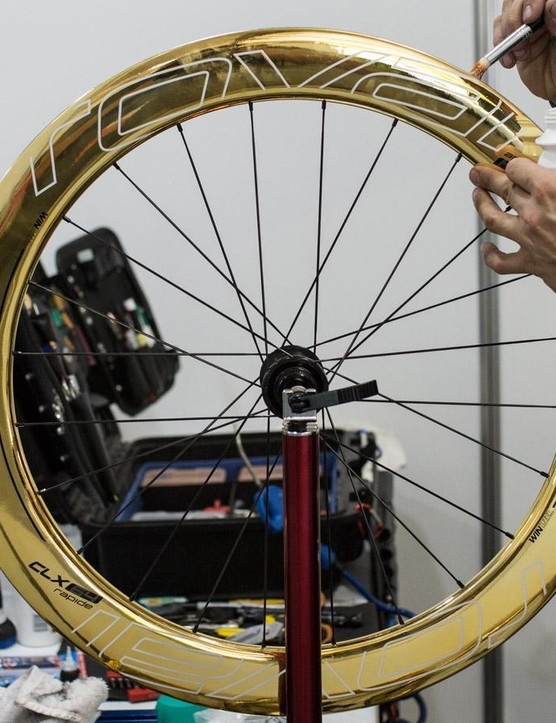 Will Sagan line up to the start with these mirrored Roval Wheels? Only time will tell