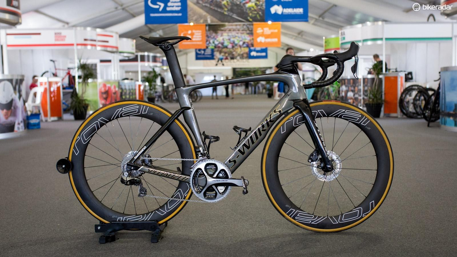 Sagan's Venge ViAS Disc was on display. It's pretty heavy tipping our scales at 8.46kg