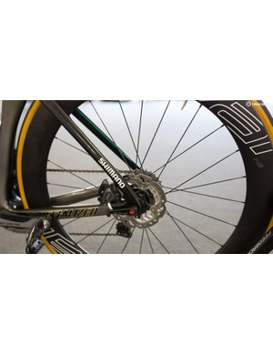 A look at the rear disc brake
