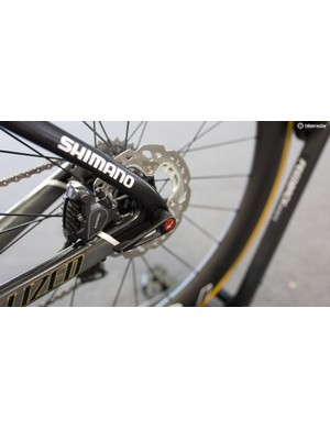 Sagan's disc roadie sees front and rear thru-axles