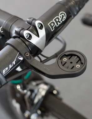 McCarthy opts for a Garmin out-front mount