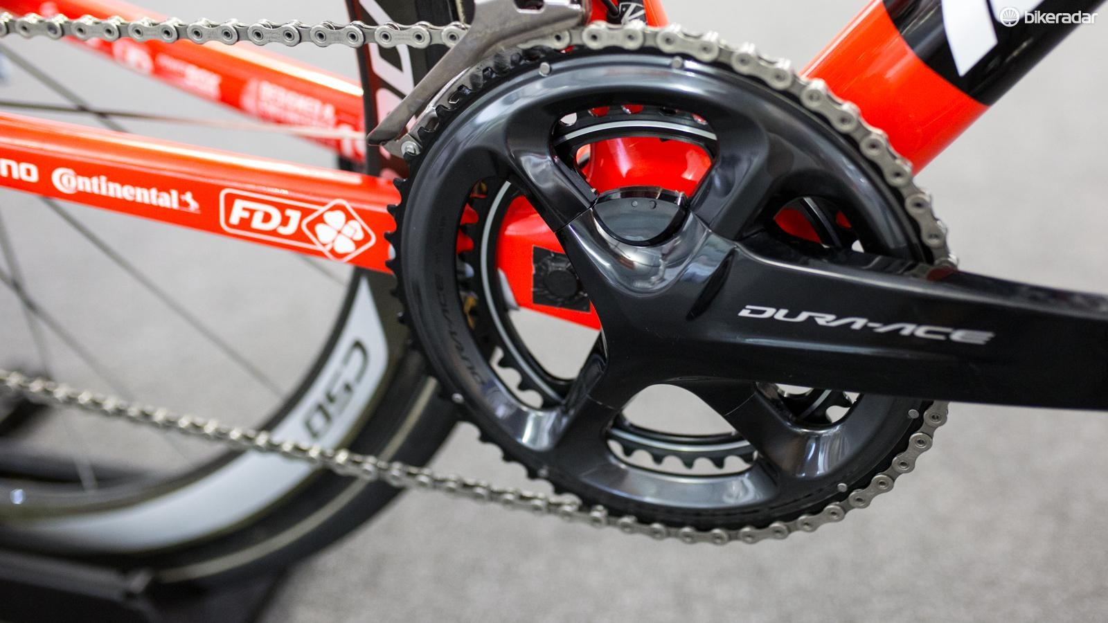 FDJ was the only team running Dura-Ace 9150 cranks at the Tour Down Under