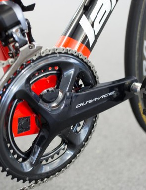 The team was also equipped with Shimano's new power meter