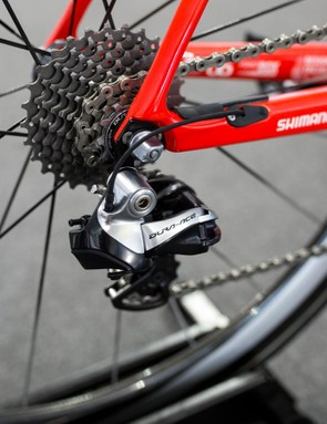 The rest of the groupset was Dura-Ace Di2 9070