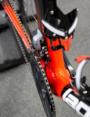 A look at the bottom bracket area of the bike