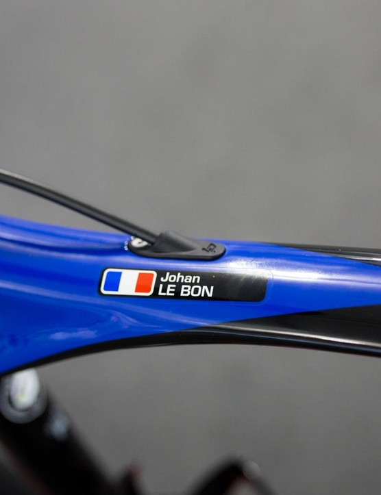 Johan Le Bon's name on the toptube