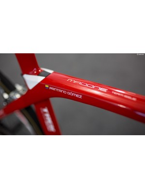 With so many candy apple red bikes, name tags are mandatory