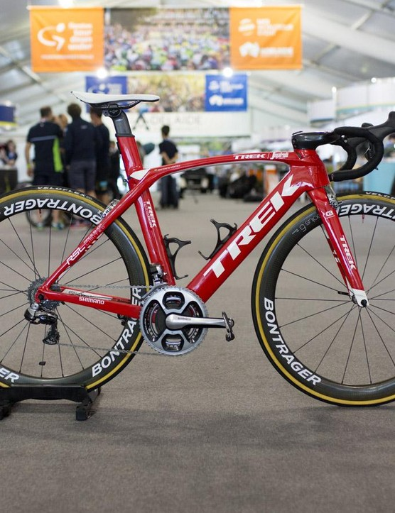 Trek-Segafredo hadn't had any of the new parts delivered