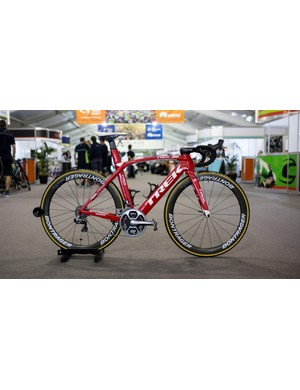 Jarlinson Pantano's Trek Madone 9 Race Shop Limited is pretty much the same as last year