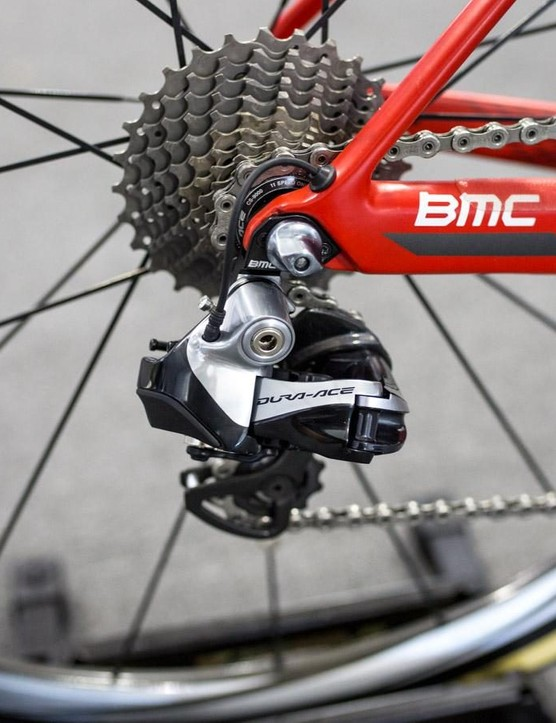 BMC is still running Dura-Ace 9000 series groupsets