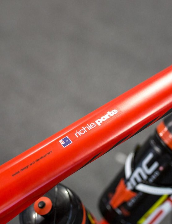The Australian's name adorns the toptube