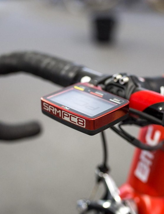 SRM PC-8 head unit in team colours