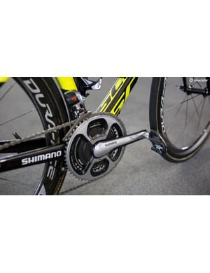 Ewan uses a SRM powermeter on his race bike