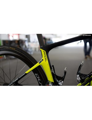 The dropped seatstays are designed to add a bit of comfort to the frame