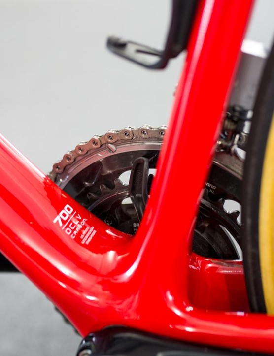 A look at the bottom bracket area