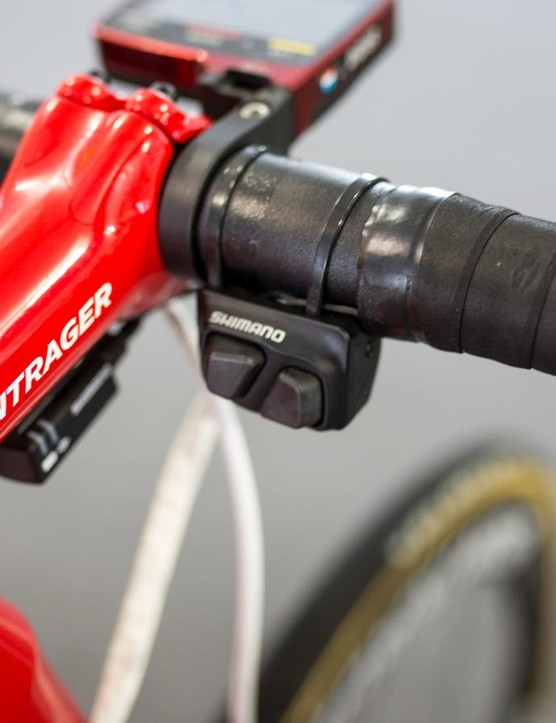 Didier opts for climbing shifter buttons on the handlebar tops