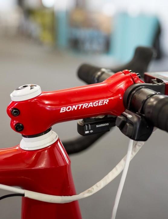Bontrager provided the stem