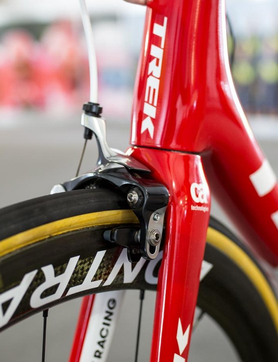 A look at the front brake