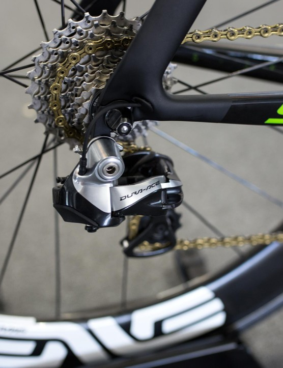 No sign of Rotor's Uno groupset, nor Shimano's new 9170 Di2