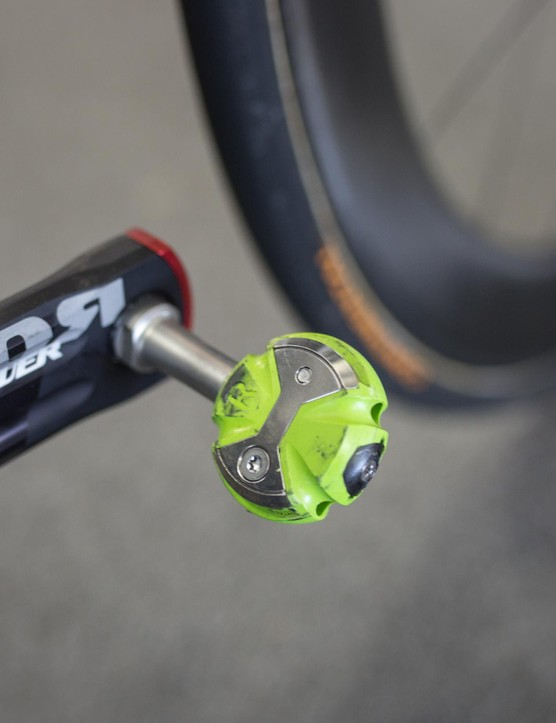 Dimension Data is the only World Tour Team running Speedplay pedals this year