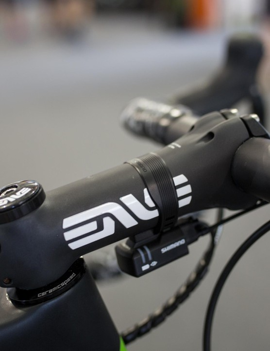 Renshaw is using a 130mm Enve stem