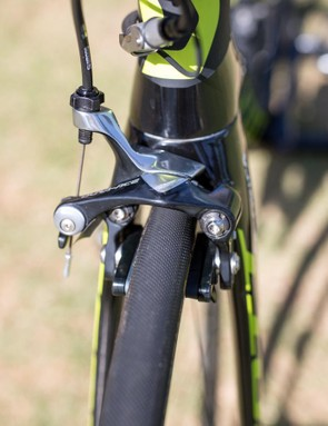 Shimano's Dura-Ace direct mount brakes provide awesome stopping power