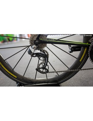 Howes is running the huge CeramicSpeed pulley wheels