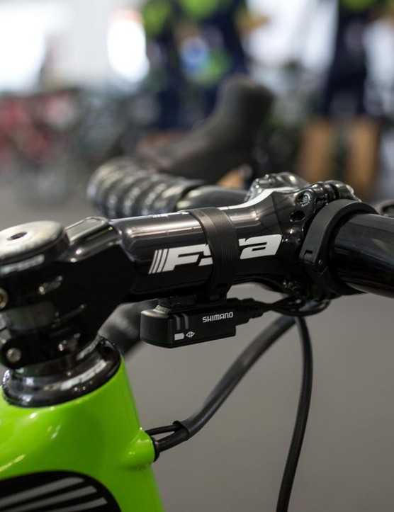 The FSA OS series stem packs a huge -17-degree drop