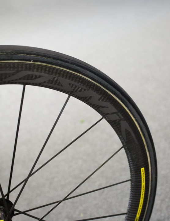Howes' wheel of choice is the Mavic Cosmic Carbon