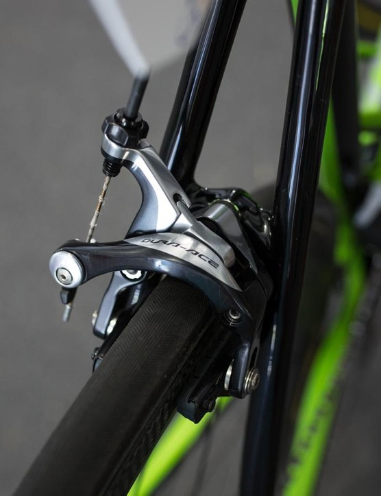 Stopping power courtesy of Shimano Dura-Ace brakes