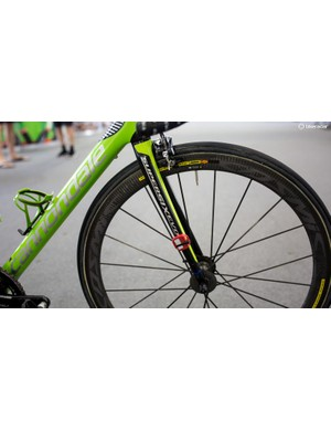 The SuperSix EVO sees a pretty straight fork
